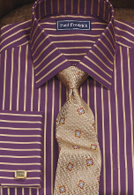 plum gold dress shirt and tie