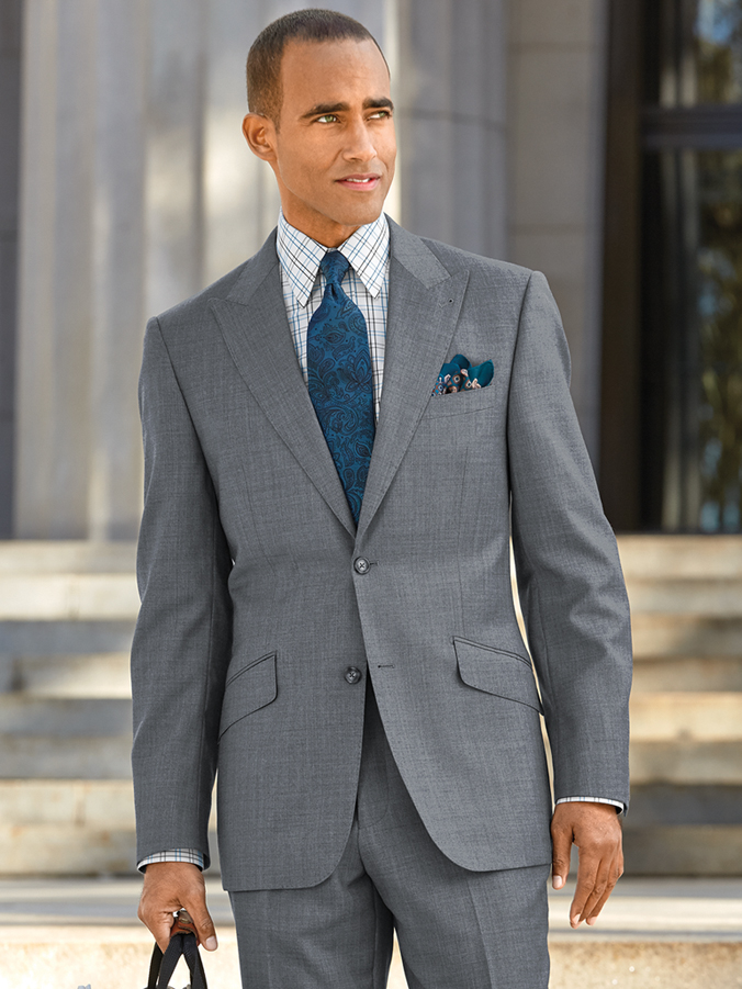 Grey Premium Sharkskin Suit