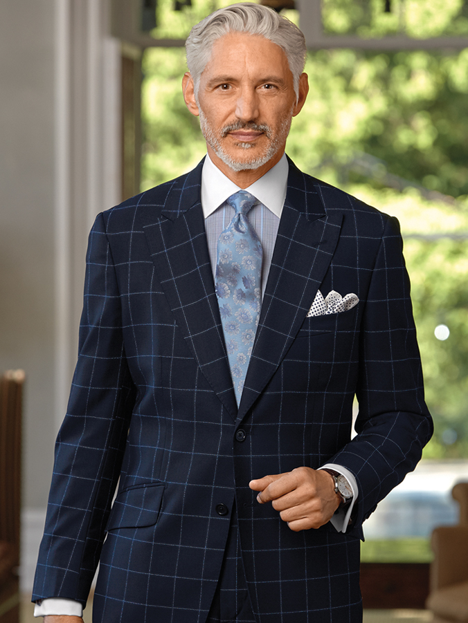 Italian Wool Windowpane Suit